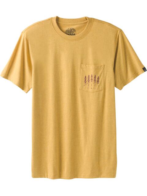 Prana Hollis Pocket - Camiseta manga corta Hombre - amarillo